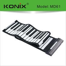 Musical Instrument Electronic Keyboard Piano Midi 61 Keys Piano with Rolling Keyboard