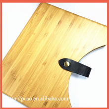 Unique design bamboo case for ipad,wholesale for ipad 5 bamboo case with belt fastener