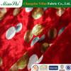 2014 Hot Sell New Design 95% Polyester 5%Spandex Super Poly KS Printed Velvet /95% silk 5% spandex fabric