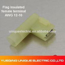 FLDNY 5.5-250 12-10 A.W.G yellow copper crimp automotive flag terminals