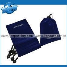 purple mini square drawstring velvet bag for jewelry cosmetic