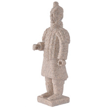 Classical sandstone Chinese style Terra-Cotta Warriors statue for home garden decoration craft novelty Resin craft 12271