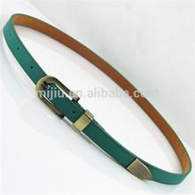 2014 Green Tiny Leather Garment Accessory Waist Belt and Safety Belt Extender