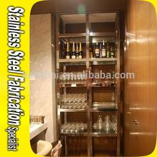 Bespoke Stainless Steel Wine Rack Cabinet For Hotel KTV Bar