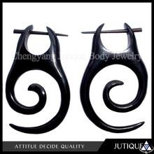 Earrings body jewlery organic horn ornate 1PAIR post