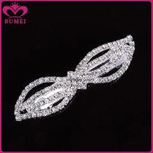 Custom crystal bow hair barrettes wholesale