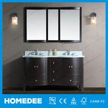 L'amérique du nord style armoire de toilette en bois de stockage