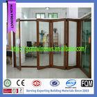 high class aluminium double glass Office partition bi fold door