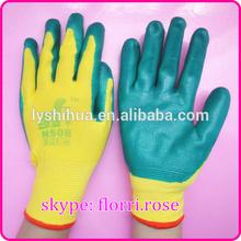 13G knitted nylon nitrile coated glove