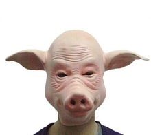 Cheap antique latex full face pig mask