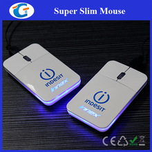 Super slim mini flat mouse with retractable cable