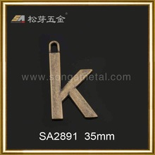 New arrival Gold plated metal label leg