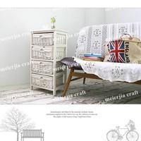 natural wood home furniture storage tower