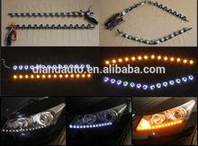 DLAND LATEST K5 LED TEAR EYE STRIP, WHITE LIGHT AND TURNS YELLOW WHEN TURN CAR