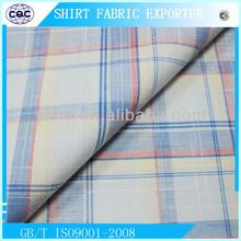Yarn Dyed Slub Cotton Shirt Fabric with Big Check