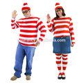 Deluxe Where's Waldo Costume Adult cosplay couple costume QAMC-2039
