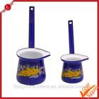 Blue color japanese/arabic porcelain coffee set with handle