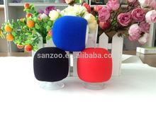 customizable color high density sound sponge round bluetooth speaker