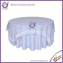 19348 Design branded Durable Home Canvas Rectangle wedding organza table cloth
