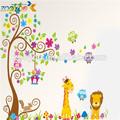 de los animales zooyoo etiqueta de la pared bebé vivero decoración de papel pintado del pvc