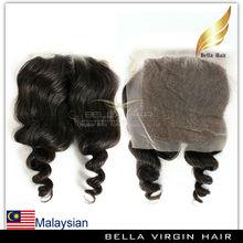Wholesale virgin malaysian lace closure piece, fashion black women top closure hair piece