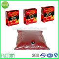 Haute qualité usine gros jus de fruits sac en plastique transparent