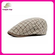 Retail Top quality Fashion Cotton fabric Wholesale custom beret gatsby fashion plaid ivy cap