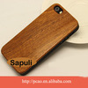 Best Wood cell phone case ,Bamboo mobile case for iphone 5s with black and white PC shell
