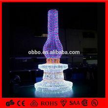 3D led decorative christmas decoration,sculpture motif,art and craft lighting