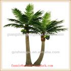 LF082407 garden decorative artificial coconut palm trees ,high imitation fiber bent coconut tree
