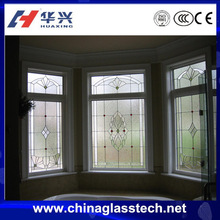 CE Standard Size Customized Aluminum Frame Stained Glass Window Decorations