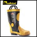 Combate a incêndio botas de borracha, Bombeiro botas, Resistente ao fogo botas de segurança H-9018
