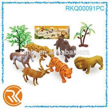 Plastik orman hayvan oyuncaklar, hayvanat bahçesi hayvan seti oyuncak, orman hayvan seti oyuncak ağaç