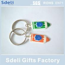 Cheapest OEM Soft PVC keyring/promotional key chains/rubber keyrtag