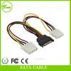 SATA 15pin male to dual 4pin Molex female sata power cable