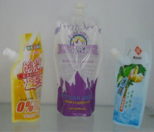 customized spout pouch for packaging energy drink/juice/liquid