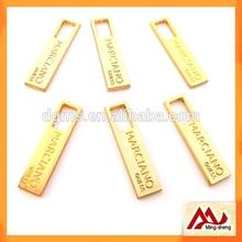 Top Quality Light Gold Metal Zipper slider