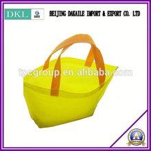 Metallic effect silver non wove Totes bag For shopping bag