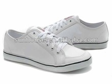 2014 new style women casual very cheap plain white canvas shoes