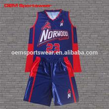 Digital printing basketball uniform design for women