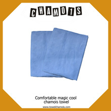 Factory custom chamois cloth smooth surface Blue cloth