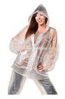 Adult Clear Cute Waterproof Wholesale PVC Plastic Rain Suits