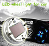 light vibration sense automatic switch dreamy colour solar cell cars wheels led tuning light