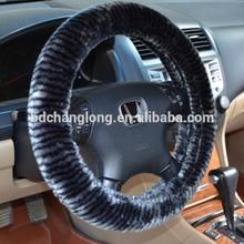 Comfortable Plush Car Steering Wheel Cover Long Plush Steering Wheel Cover Black