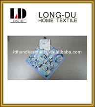 100% cotton popular lady's soft printing handkerchief