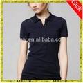 2014 venda quente nova moda casual de algodão polo colarinho azul, black sexy mulher apertada camiseta polo projetos para a senhora por atacado da porcelana