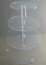 Professional design Clear Acrylic Cupcake Stand Wholesale Cake Stands