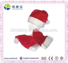 child size plush santa claus hat