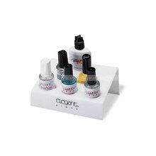 White acrylic nail polish holder, slanted acrylic nail polish bottle holder, perspex nail polish holder
