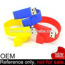 promotion cheap fancy bracelet silicone USB computer accessories